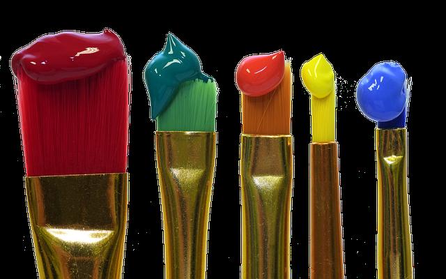 barvy na štětcích