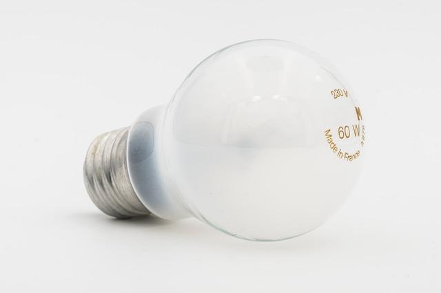vláknová mléčná žárovka